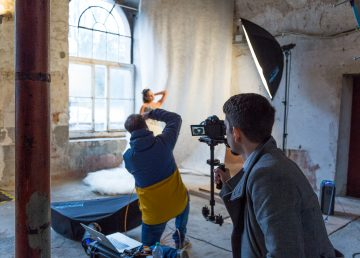Christoph Nerzt Fotoshooting Kulturkathedrale