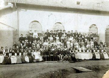 Fabrik Sonntag Belegschaft 1900