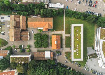 Fabrik Sonntag Campus Luftaufnahmen